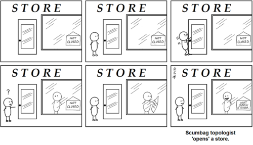 what better reason to learn real analysis and topology than to understand this supremely funny comic?